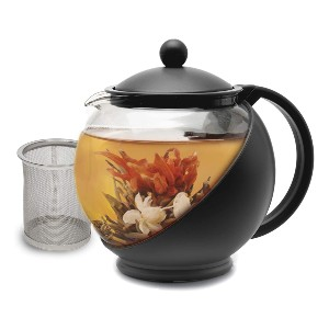 Primula Half Moon Teapot with Removable Infuser - Best Teapot with Infuser: Heat-Resistant Glass Teapot