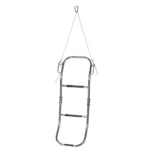West Marine Boarding Ladder for Inflatable Boats - Best Boat Ladders: Adjustable Lanyard with Carabiner