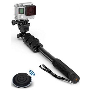 Selfie World Professional 10-in-1 Monopod Selfie Stick - Best Selfie Stick Tripods for Smartphone: Up to 4 feet