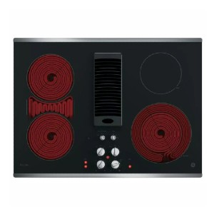 GE Profile 30 in. Radiant Electric Downdraft Cooktop - Best Cooktops with Downdraft: Enhances indoor air quality