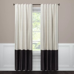 Project 62™ Blackout Color Block Curtain Panel  - Best Curtains for Living Room: Soften Up Curtain