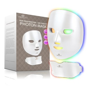 Project E Beauty Photon Skin Rejuvenation Face & Neck Mask - Best LED Light Therapy Mask Anti Aging: Face and Neck Treatment