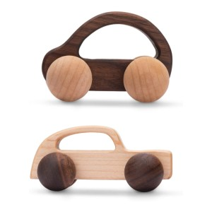 Promise Babe Wooden Rattle Non-Toxic Safe Push Car Toys - Best Wooden Toys for Babies: Simple but attractive