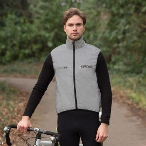 Proviz REFLECT360 Men's Cycling Vest - Best Vests for Cycling: Vest with Perforated Back Paneling