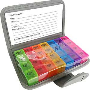 PuTwo Pill Organizer 7 Day - Best Pill Dispensers for Seniors: A binder to organize your daily medication precisely