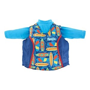Puddle Jumper Kids 2-in-1 Life Jacket and Rash Guard - Best Floats for Toddlers: Certified for use on boats