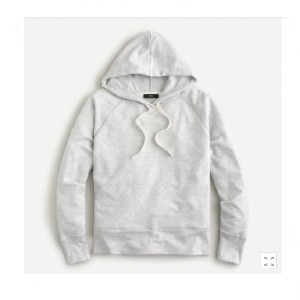 J.Crew Pullover hoodie in Cloud fleece - Best Hoodies for Women: Crazy-Cozy and Lightweight