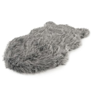 PupRug™ Faux Fur Orthopedic Dog Bed Cover  - Best Dog Beds for Small Dogs: Non-Slip Bottom