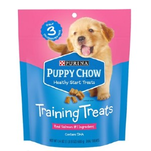 Puppy Chow Healthy Start Salmon Flavor Training Dog Treats - Best Dog Treats for Puppies: Rich Protein Treat