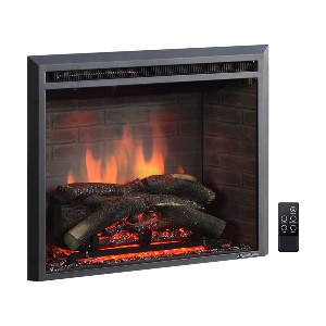 PuraFlame Western Electric Fireplace Insert  - Best Electric Fireplace for RV: Realistic look with crackling sound