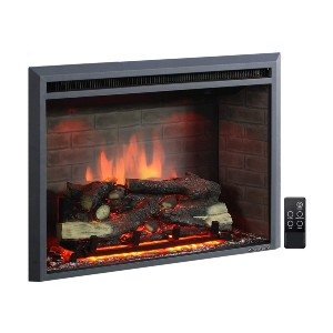 PuraFlame Western Electric Fireplace Insert  - Best Electric Fireplace for Basement: Realistic look with crackling sound
