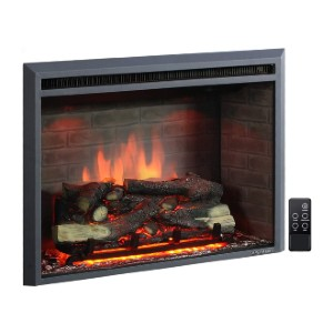PuraFlame Western Electric Fireplace Insert  - Best Electric Fireplace Under $500:  Realistic look with crackling sound