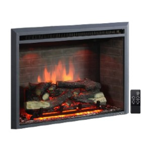PuraFlame Western Electric Fireplace Insert  - Best Electric Fireplace for Bedroom: Realistic look with crackling sound