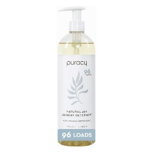 Puracy Natural Liquid Laundry Detergent - Best Laundry Detergents to Keep Colors from Fading: Liquid Detergent in Pump Bottle