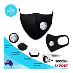 ProtectUall Pure Cotton Mask - Best Masks for COVID: 3D cool black mask to protect you
