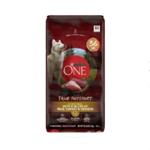 Purina ONE True Instinct with Real Turkey & Venison High Protein Adult Dry Dog Food - Best Dog Foods to Gain Weight: High-Protein Kibble