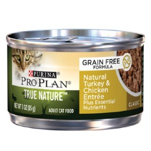 Purina Pro Plan Classic Adult True Nature Natural Turkey & Chicken Entree Grain-Free Canned Cat Food - Best Cat Food for Indoor Cats Vet Recommended: Low Carbohydrate
