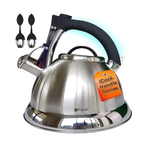 Pykal Whistling Tea Kettle with iCool - Handle - Best Tea Kettle for Gas Stove: Durable Kettle