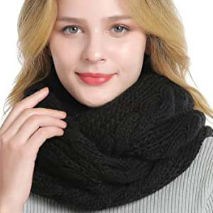QUEENFUR Winter Women Thick Cable Knit - Best Scarves for Winter: Versatile and fashionable