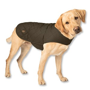 ORVIS QUILTED WAXED COTTON DOG JACKET - Best Coats for Dogs: Lined with Polyester Microfleece for Extra Warmth