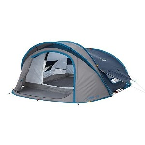 QUECHUA Romatlink Waterproof Pop Up Camping Tent - Best Easy Set Up Tents: Waterproof, Breathable, UV Protection Tent