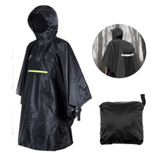 Queta Raincoat Waterproof with Safe Reflective Tape - Best Raincoat for Boating: Lightweight Raincoat