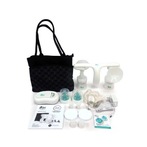 TOMY Quiet Expressions Double Electric Breast Pump - Best Breast Pump Electric: Quick, Efficient and Capable of Multitasking