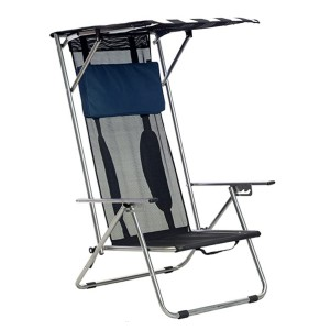 Quik Shade Beach Recliner Shade Chair - Best Folding Chair with Canopy: Adjustable roof