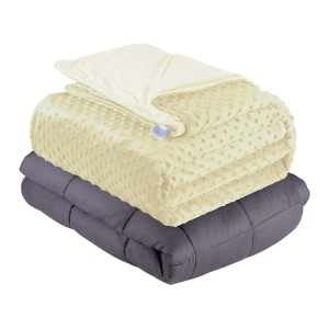 Quility Weighted Blanket - Best Weighted Blanket Amazon: Contain Millions of Premium M0icro Glass Beads