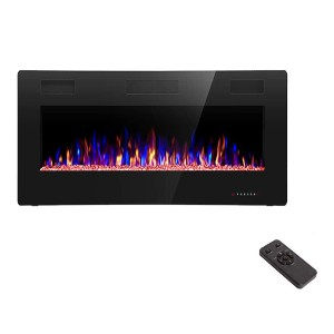 R.W.FLAME 36 inch Recessed and Wall Mounted Electric Fireplace - Best Electric Fireplace Under $500: Multi operating modes