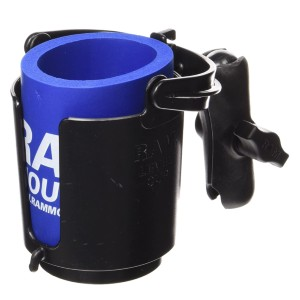 RAM Drink Holder with Double Socket Arm - Best Motorcycle Drink Holders: Self-Leveling Feature Avoids Spills