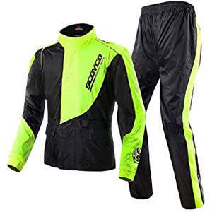 Scoyco RC01 Motorcycle Racing Waterproof Jacket Pants Set Rain Suit - Best Raincoat for Motorcycle Riders: For Professional Look