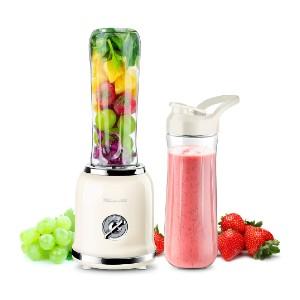 REDMOND Personal Blender - Best Blender for Protein Shakes: Retro Color Plus Chrome Details
