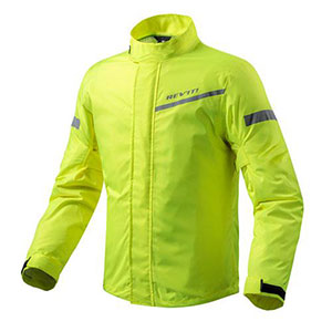 REV'IT! CYCLONE 2 RAIN JACKET - Best Raincoat for Motorcycle Riders: 100% Waterproof With Great Visibility