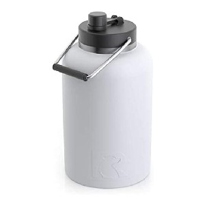 RTIC Vacuum Insulated Large Water Bottle - Best 1 Gallon Insulated Water Jug: Extra-Wide Opening Jug