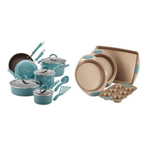 Rachael Ray Cucina Cookware - Best Porcelain Pots and Pans: Complete package