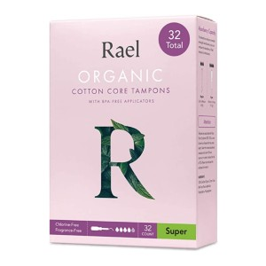 Rael Organic Cotton Core Tampons  - Best Organic Tampons for Heavy Flow: Simple insertion