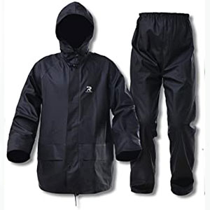 RainRider Rain Suits for Men Women - Best Raincoats for Work: The front zip with snap storm flap raincoat