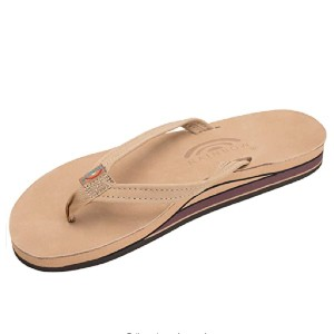 Rainbow Sandals Women's Double Layer Leather Narrow Strap w/Arch - Best Sandals for Arch Support: Everyday Sandal