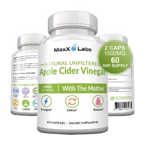MaxX Labs Raw Apple Cider Vinegar Capsules - Best Apple Cider Vinegar for Acid Reflux: Formulated with Pharmaceutical-Grade Ingredients