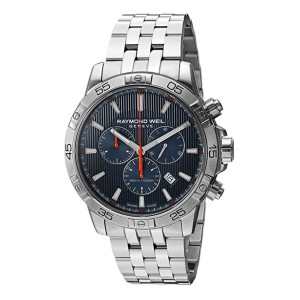 Raymond Weil Men's Tango Quartz Diving Watch  - Best Formal Watches for Men: Suitable for mixed-gas diving
