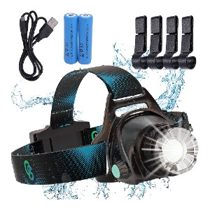 QS Rechargeable Headlamp - Best Headlamps for Hunting: Adjustable and Comfortable