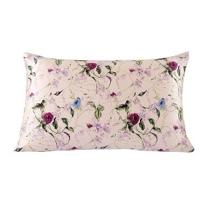 Red Barrel Studio® Audrynna Floral Silk Pillowcase - Best Pillowcase for Curly Hair: Luxurious Colors and Patterns