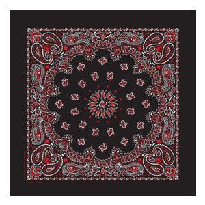 OHSAY USA Red & Black Bandana - Best Cotton Bandanas: Still Being Sewn For 70 Years