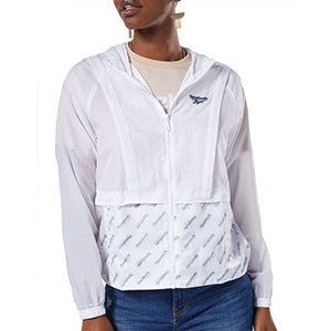 Reebok A CRINKLY WINDBREAKER WITH A MONOGRAM PRINT - Best Jacket for Wind: Windbreaker jacket with tonal monogram print