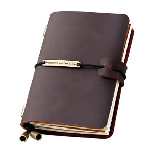 Robrasim Refillable Travelers Notebook - Best Notebook for Travel Journal: One-of-a-kind