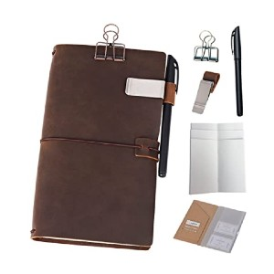 Newestor Refillable Travelers Notebook - Best Notebook for Travel Journal: Tons of extras!