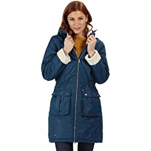 Regatta Women's Insulated Hooded Jacket - Best Raincoats with a Suit: Safe with internal security pocket