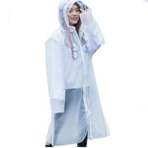 Rehomy Raincoat Jacket with Hood  - Best Raincoats for Festivals: Hood with 7cm Brim Raincoat