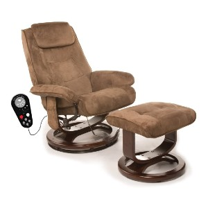 Relaxzen Deluxe Leisure Recliner Chair - Best Lounge Chair for Back Pain: Lounge Chair with Vibration Massage Motors